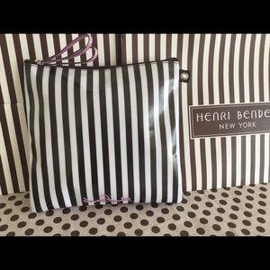 NEW Henri Bendel cosmetic bag. Centennial stripes